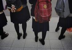 Girls School Commute Concept. Girls School On Commute Concept Stock Images