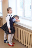 Girls in the school Royalty Free Stock Photography