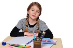Girls school learn Stock Image