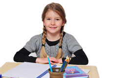 Girls school learn Stock Images