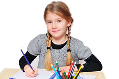 Girls school learn Royalty Free Stock Photos
