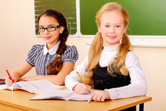 Girls in school Stock Image