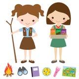 Girls scout Imagen de archivo libre de regalías