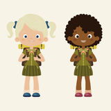 Girls scouts Royalty Free Stock Photography