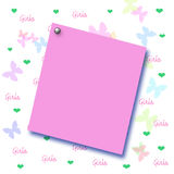 Girls scrapbook page Stock Images