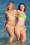 Girls at the sea Royalty Free Stock Photos