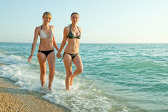 Girls at the sea Royalty Free Stock Photography