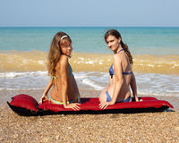 Girls at the sea Royalty Free Stock Images
