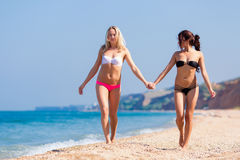 Girls at the sea Stock Image