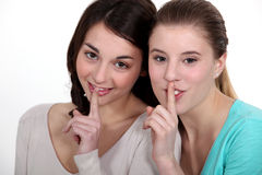 Girls with a secret Royalty Free Stock Photography