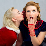 Girls secretive Royalty Free Stock Images