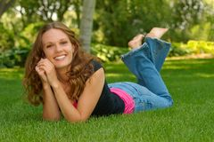 A girls senior portrait Stock Photography
