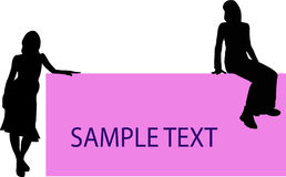 Girls set - 2. Silhouette Royalty Free Stock Photography