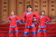 Girls Shadow dance performances on the stage, china Royalty Free Stock Photo