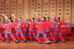 Girls Shadow dance performances on the stage, china Stock Photos