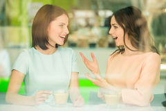 Girls sharing secrets Stock Photos