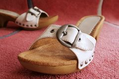Girls shoes Royalty Free Stock Photography