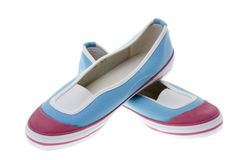 Girls' shoes. Royalty Free Stock Images