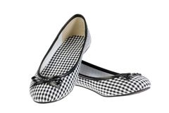 Girls' shoes on white. Stock Photo