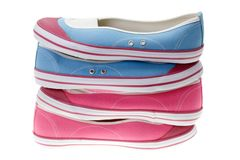 Girls' shoes on white. Royalty Free Stock Image