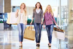 Girls in shop Stock Photography