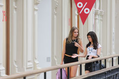 Girls at shopping Royalty Free Stock Photography