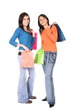Girls shopping Stock Photo