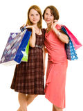 Girls with shopping Stock Photos