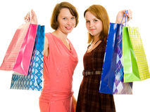 Girls with shopping Royalty Free Stock Image