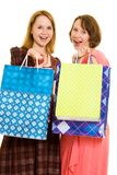 Girls with shopping Royalty Free Stock Photo
