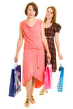 Girls with shopping Stock Photo