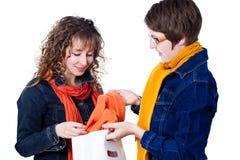 Girls shopping Stock Image