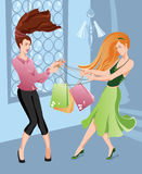 Girls shopping Stock Image