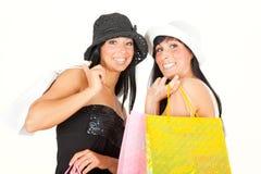 girls shopping Στοκ Εικόνες