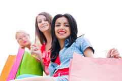Girls Shopping Stock Photography