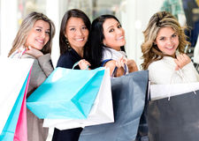 Girls at the shopping center Royalty Free Stock Photo