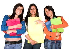 Girls shopping day Stock Image