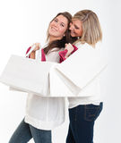 Girls on a shopping expedition Stock Photography