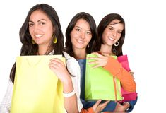 Girls in a shopping spree Stock Image