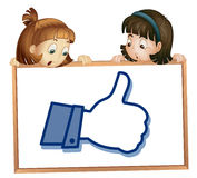 Girls showing thumb picture Royalty Free Stock Images