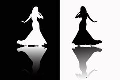 Girls silhouette Royalty Free Stock Photo