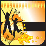 Girls silhouette on abstract background Royalty Free Stock Photography
