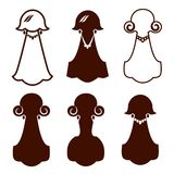 Girls silhouette icon Royalty Free Stock Images