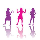 Girls silhouettes stock images