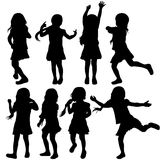 Girls silhouettes Stock Photo