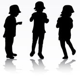 Girls silhouettes Royalty Free Stock Images
