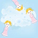 The girls similar to fairies stock photo