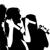 Girls singing Royalty Free Stock Images