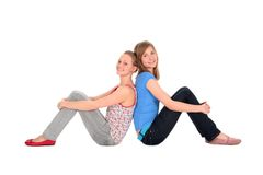Girls sitting Royalty Free Stock Photography