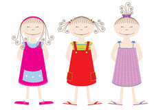 Girls Sleepers. 3 girls together to frolic Royalty Free Stock Photos